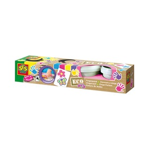 SES  4er-Pack Fingerfarbe Eco Girly