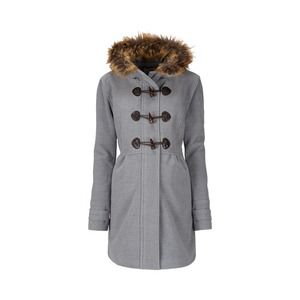 2HEARTS  Umstands-Mantel Romantic Duffle Coat mit Fake Fur