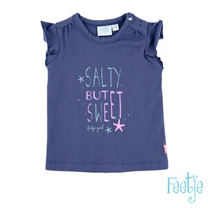 FEETJE  T-Shirt Flügelarm Salty but sweet  blau
