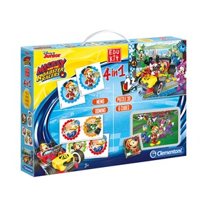 CLEMENTONI MICKEY AND THE ROADSTER RACERS Spielesammlung Edukit 4 in 1