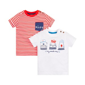MOTHERCARE  2er-Pack T-Shirts Ringel Seaside Crew