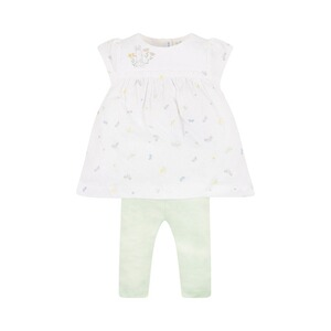 MOTHERCARE  2-tlg. Set Kleid kurzarm Libelle und Leggings