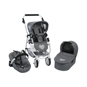 BAYER CHIC  Kombi-Puppenwagen 3 in 1 Emotion All In  jeans/grau