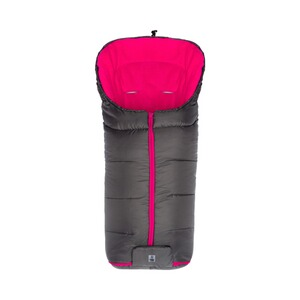 BABYCAB  Winter-Fußsack Eco big für Kinderwagen, Buggy  grau/pink