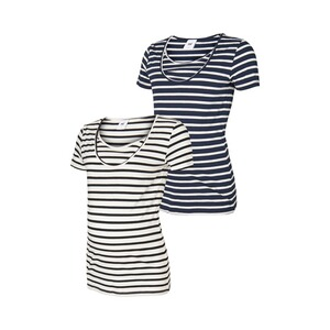MAMALICIOUS®  2er-Pack Umstands- und Still-T-Shirt Lea Organic Cotton