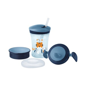 NUK  5 tlg. Trinklernbecher-Set Evolution Cup 230 ml  blau