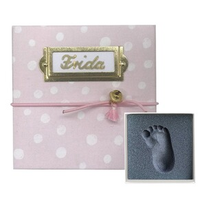 My Magic Footprint  Baby Abdruckset Erinnerungsbox  rose Dots