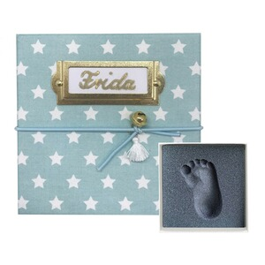 My Magic Footprint  Baby Abdruckset Erinnerungsbox  mint Stars