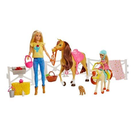 Barbie Barbie Reitspaß mit Barbie (blond), Chelsea, Pferd