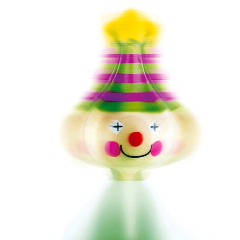 Small FootKreisel-Clown aus Holz 3