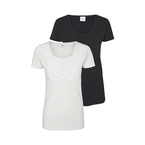 MAMALICIOUS®2er-Pack Umstands- und Still-T-Shirt Lea Organic Cotton 1