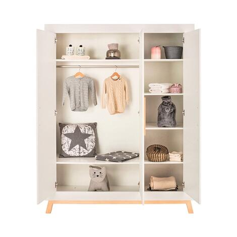 3 tlg. Babyzimmer Miami mit 3 türigem Kleiderschrank white