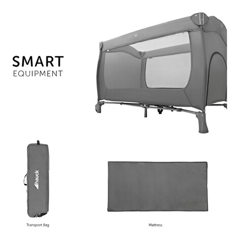 HauckReisebett Sleep N Play Go Plus  grey 4