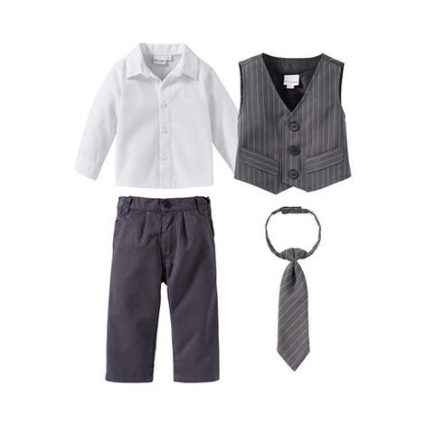 Bornino Festliche Mode 4 Tlg Set Anzug Mit Weste Hemd Hose Und Krawatte