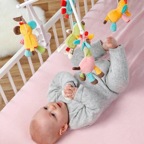 Fehn Musik-Mobile Safari Spieluhr Lauschen Staunen Befestigen am Bett für Babys