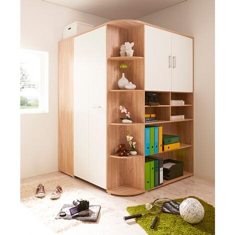 ticaa kleiderschrank corner begehbar 2 t rig online kaufen. Black Bedroom Furniture Sets. Home Design Ideas