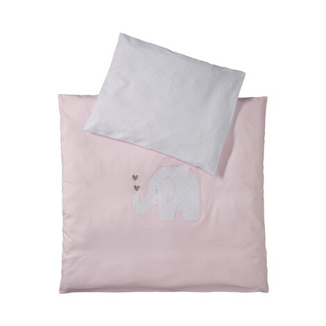 BORNINO HOMEJersey-Bettwäsche Elefant 35x40 / 80x80 cm  rosa 1