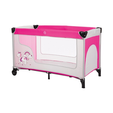 pink//grau Fillikid Reisebett Einhorn