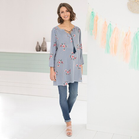 2hearts WE LOVE BASICS Umstands- und Still-Tunika Flowers 6