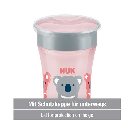 NUK  Trinklernbecher Magic Cup 230 ml  rosa 4