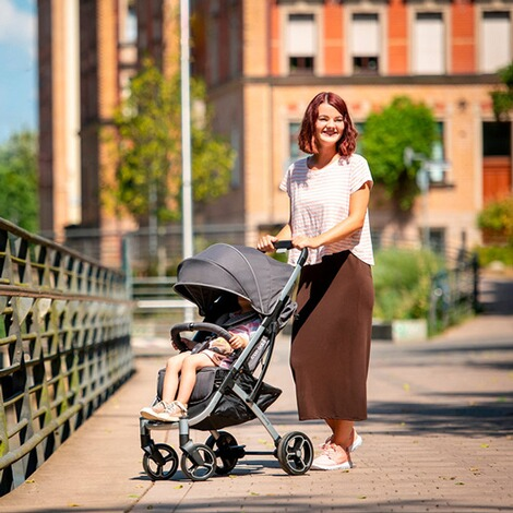 knorr-babyPREMIUMX-Easy-Fold Buggy mit Liegefunktion  anthrazit 6