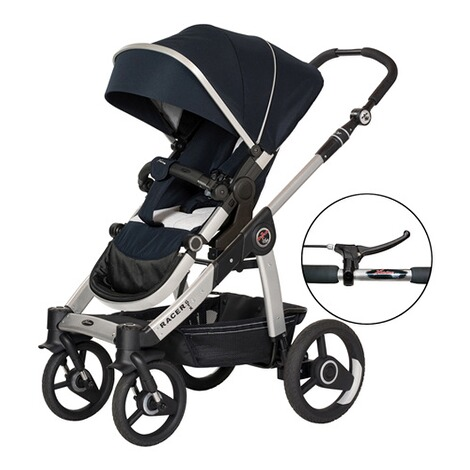 HartanRacer GTX Kinderwagen mit Handbremse  navy stripes 1