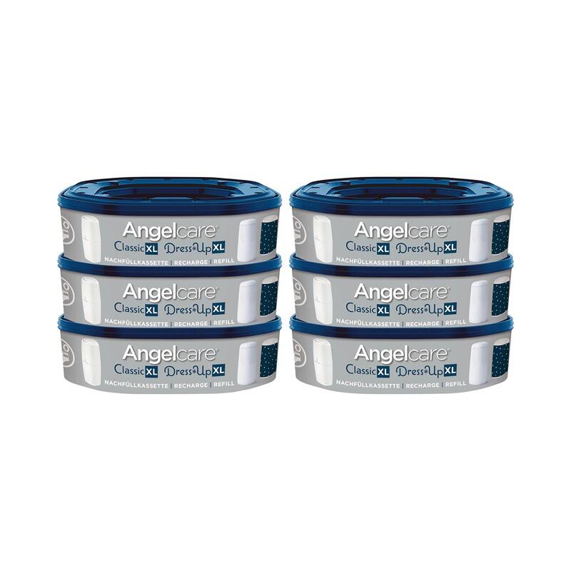 Hengda 4er-Pack Nachf/üllkassetten f/ür Angelcare Windeleimer und Genie Windeleimersysteme Fasst bis zu 280 Windeln.